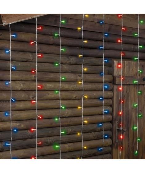LOTTI Rideau lumineux 182 LED 5 mm - Multicolore - Contrôleur 7 jeux de lumiere + 1 fixe - L 300 x H 152 cm