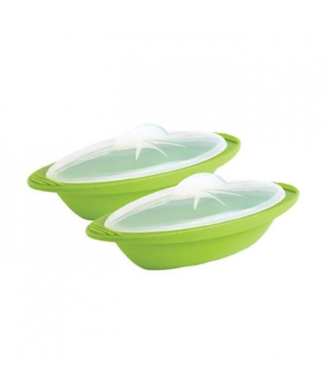 MASTRAD F68465 Coffret taille légume + papillote - Silicone sans BPA - Vert