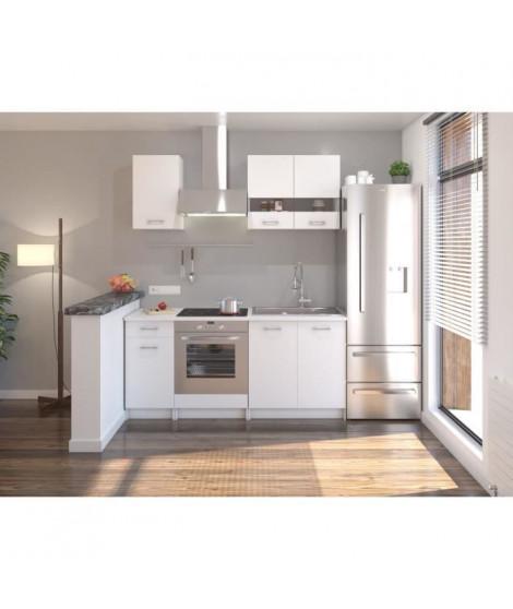 Cuisine complete L 180 cm - Blanc Mat - EXTRA