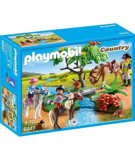 PLAYMOBIL 6947 - Country - Cavaliers avec Poneys et Cheval