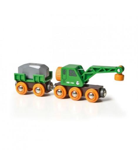 BRIO World  - 33698 - Wagon Grue Ingenieux