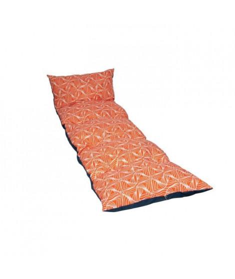 JARDIN PRIVE Bain de Soleil Flocons Vague - 180x56x10 cm