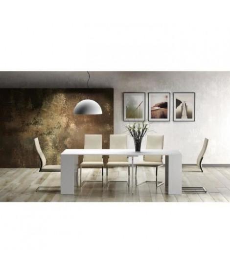 GOOMY Console extensible style contemporain - Blanc mat - L 50 a 270 cm