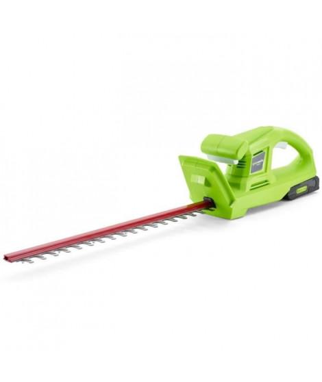 GREENWORKS Taille-haies électrique G24HTK2 - 24 V - 54 cm - 1 batterie + 1 chargeur - Vert