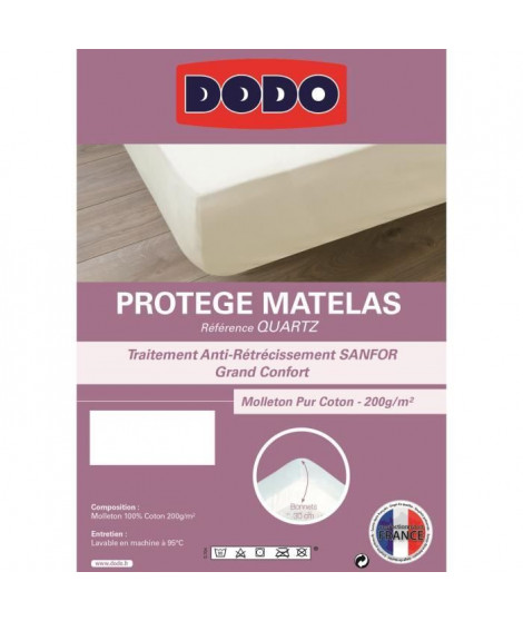 DODO Protege matelas QUARTZ 180x200cm Forme Housse