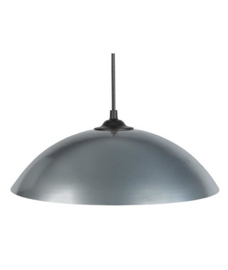 Lustre - suspension Demi-lune E27 25 W Ø29,5 cm Gris