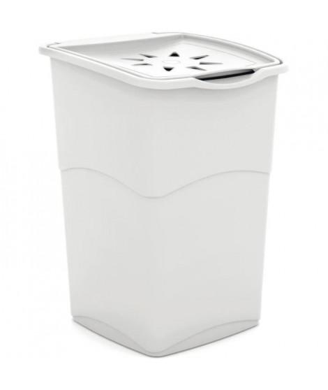 KIS Coffre a linge - 37 x 38 x 53 cm - Blanc
