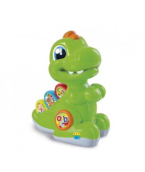 CLEMENTONI Baby - Baby T-rex vert avec détecteur - Jeu d'éveil interactif
