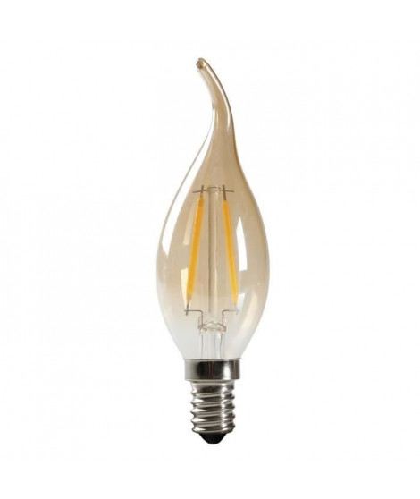 EXPERTLINE Ampoule LED filament ambrée E14 2 W équivalent a 23 W blanc chaud