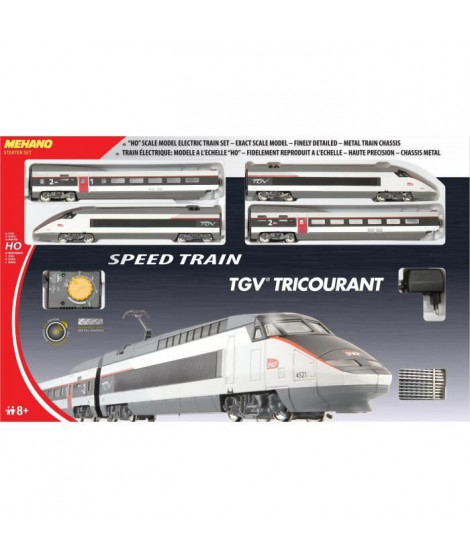 MEHANO Coffret circuit de Train électrique TGV Tricourant