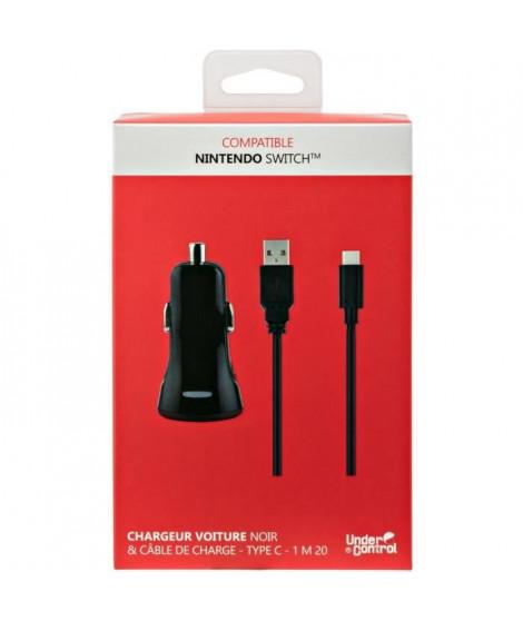 Chargeur voiture et câble de charge USB type C1 pour Nintendo Switch Noir Proxima Plus