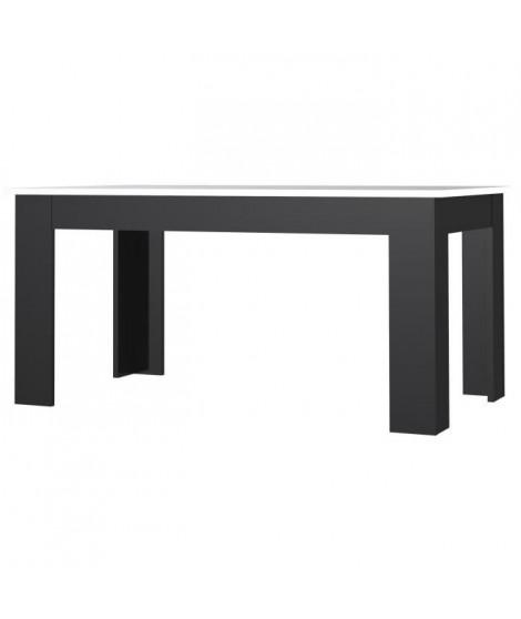 FINLANDEK Table a manger PILVI de 6 a 8 personnes style contemporain - Blanc et noir mat - L 160 x l 90 cm