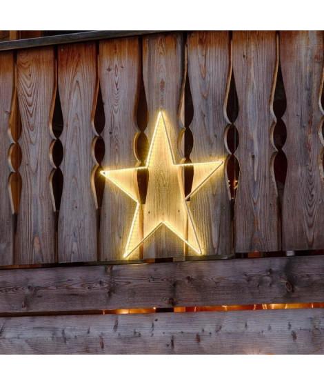 LOTTI Décoration étoile 64 cm - 150 Strip LED - Lumiere fixe blanc chaud - Transformateur 12 V