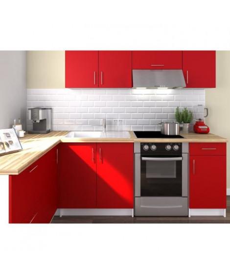 OBI Cuisine complete d'angle L 280 cm - Rouge mat