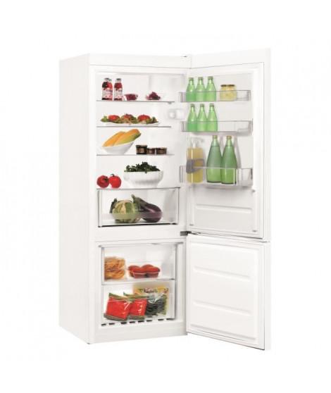 INDESIT LR6 S1 W - Réfrigérateur congélateur bas -  271L (196L+75L) - Froid statique - A+- L 60 x H 154 cm - Blanc