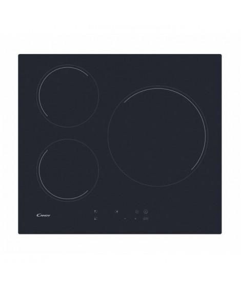 CANDY CIB632C Table induction - 3 zones - 6000W - L 59 x P 52 cm - Noir
