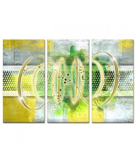 Tableau Déco Triptyque Abstrait Déco Ruche - 120x80 cm