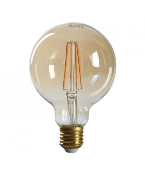 EXPERTLINE Ampoule LED filament ambrée E27 4 W équivalent a 38 W blanc chaud