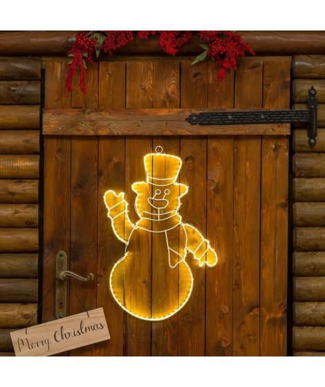 LOTTI Bonhomme de neige 120 Strip LED - H50 cm - Lumiere fixe blanc chaud