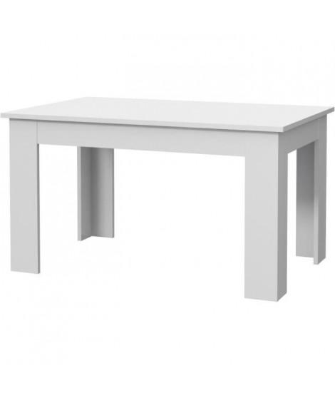 PILVI Table a manger - Blanc - L 140 x I90 x H 75 cm