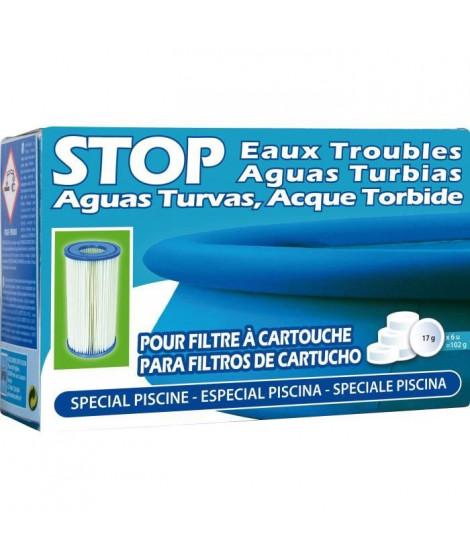SAN MARINA Pastilles Stop eaux troubles - 102 g - Pour les piscines avec filtre a cartouche