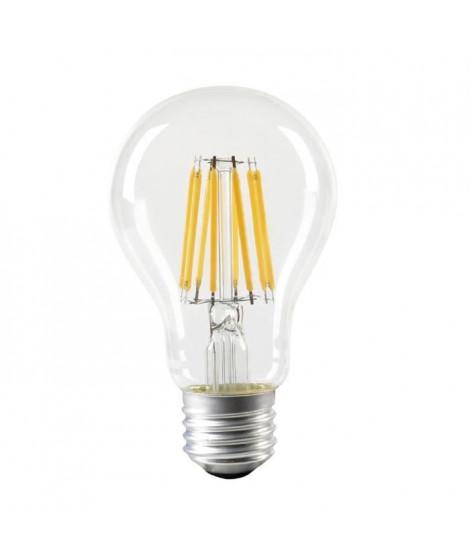 EXPERT LINE Ampoule LED E27 SMD a filament 8 W équivalent a 64 W blanc chaud