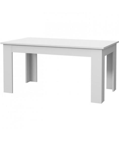 PILVI Table a manger - blanc - L 160 x I90 x H 75 cm