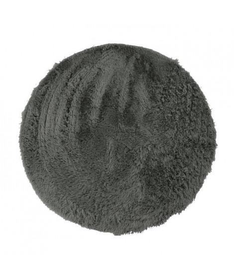 NEO YOGA Tapis de salon ou chambre - Microfibre extra doux - Ø 120 cm - Gris foncé