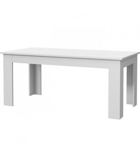 PILVI Table a manger - Blanc - L 180 x I90 x H 75 cm