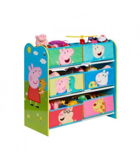 Peppa Pig - Meuble de rangement pour chambre d'enfant avec 6 bacs