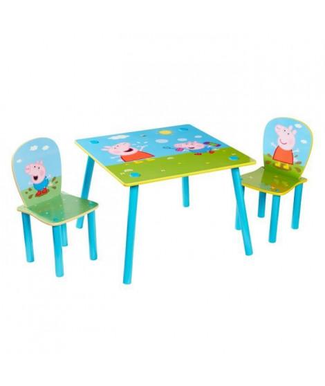 Peppa Pig - Ensemble table et 2 chaises pour enfants