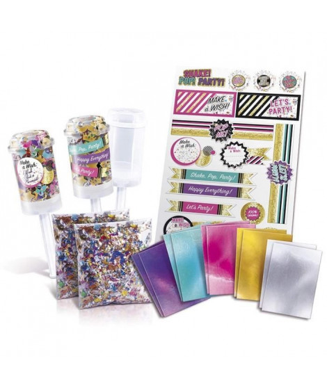 CANAL TOYS - ONLY 4 GIRLS - Confetti Party Kit - Push Pop Party !
