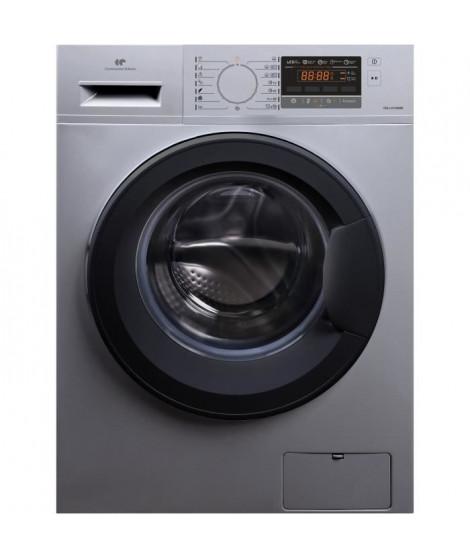 Lave-linge front 10kg - 1600trs - A+++-30%AA - moteur «inverter» - display - départ différé: 1-24h - 16 programmes - Silver