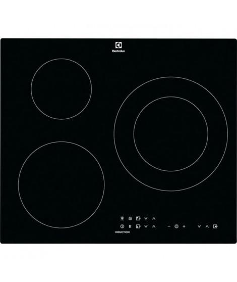 ELECTROLUX CIT60331CK - Table de cuisson induction - 3 zones - 7350 W - L 59 x P 52 cm - Revetement verre - Noir