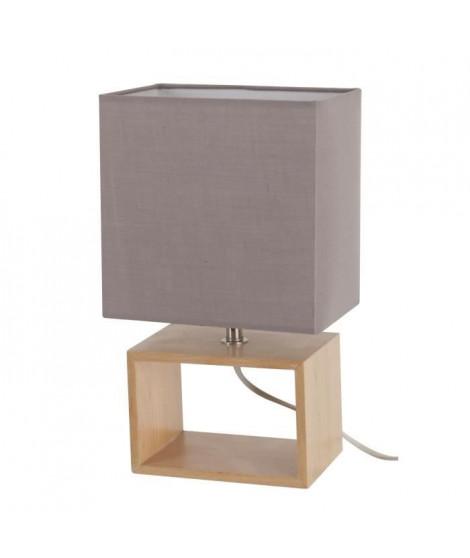LIV-Lampe a poser Bois H31cm gris Corep