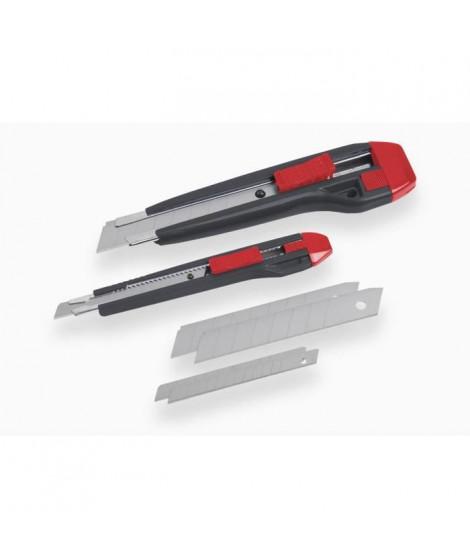 MEISTER Jeu de cutters + lames 9-18mm 8 pieces