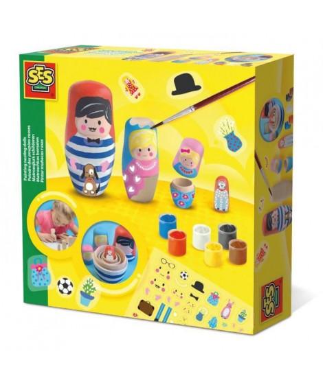 SES CREATIVE Peindre des poupées russes - 4 poupées - 6 couleurs