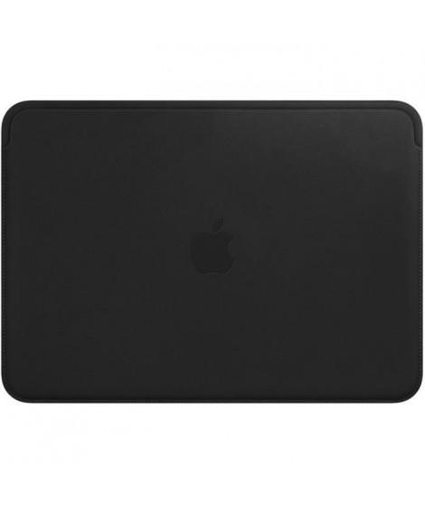 Housse en cuir pour MacBook 12pouces- Noir
