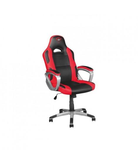 TRUST Gaming GXT 705 Ryon Gaming Chaise ergonomique accoudoirs en forme d'anneau pivotant cuir polyuréthane noir, rouge