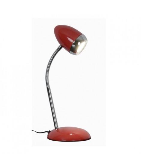 SUGAR Lampe de bureau LED en métal - Ø 5,5 x H 35 cm - Rouge