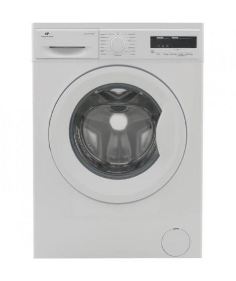 CONTINENTAL EDISON Lave-linge frontal 12 kg 1200 trs/min A+++ départ différe affichage digital blanc moteur induction