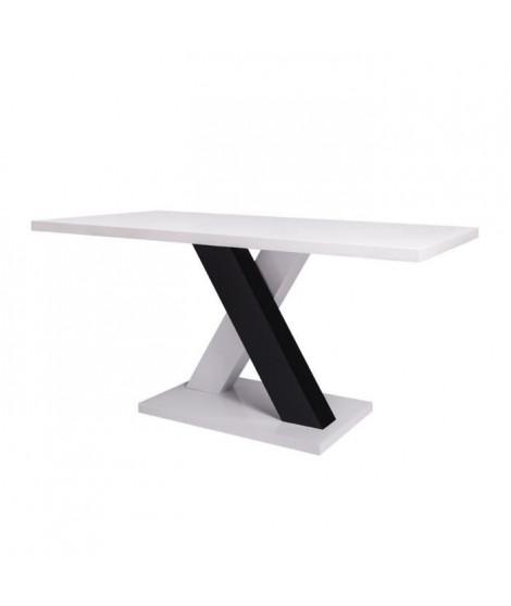 JUPITER Table de séjour 150 x 80 cm - Blanc - L 150 x P 80 x H 76 cm