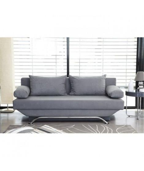Banquette convertible TEIJO 3 places - Tissu gris - Contemporain - L 190 x P 92 cm
