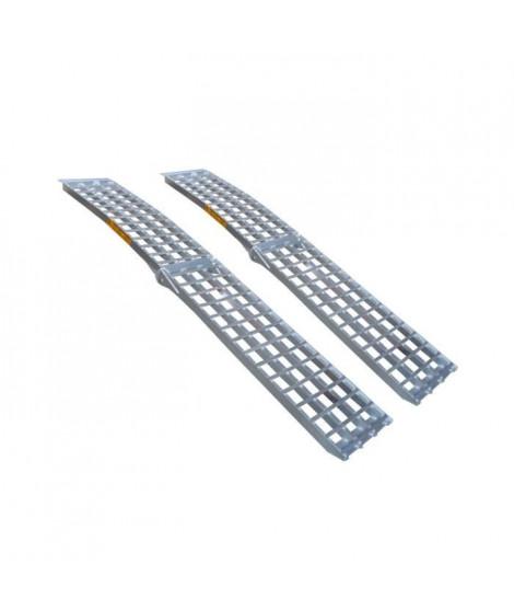 JARDIN PRATIC Rampe courbée pliable - En aluminium - L 244 x l 43 cm - Pliée 126 cm - Profil 650kg/piece - Vendu par piece