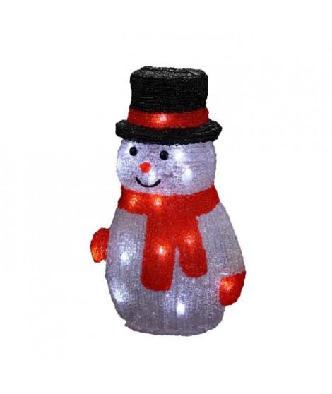 Personnage de Noël Bonhomme de neige multicolore 18x15x27 cm