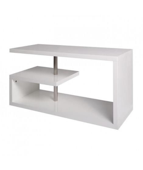 KIM Meuble TV - Blanc - L 90 x P 39 x H 45 cm