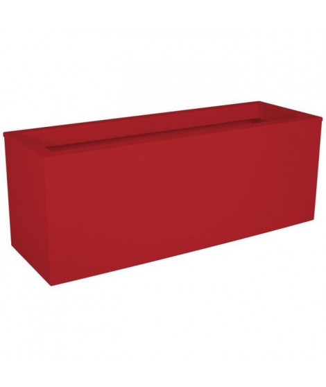 EDA PLASTIQUE Balconniere Graphit Up - 25 L - 59 x 19,5 x 22,8 cm - Rouge rubis