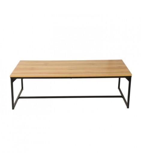 FINLANDEK Table basse TEOLLINEN style industriel - L 120 x l 60 cm