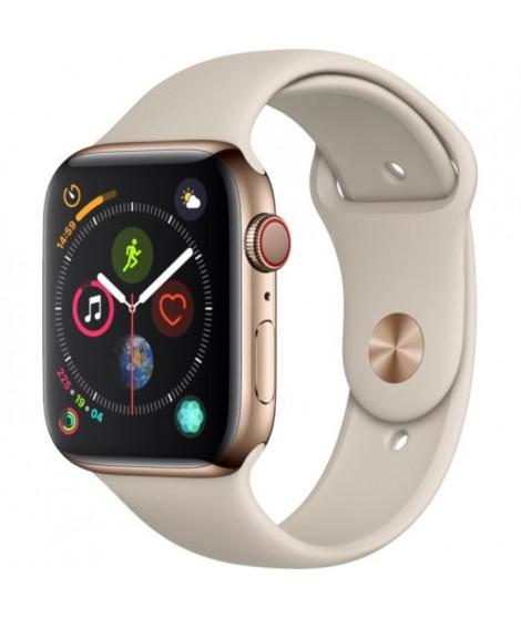 AppleWatch Series4 GPS+Cellular,44mm Boîtier en acier inoxydable or avec Bracelet Sport gris sable