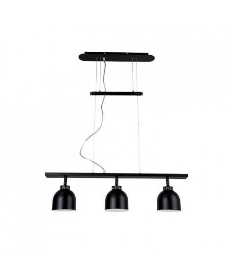 DOCKA Suspension en métal 3 lumieres - L.81 x l.13 x H.22,5 cm - Noir - 3xG9